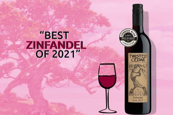 Photo for: Twisted Cedar Zinfandel wins the Best Wine by Varietal 2021